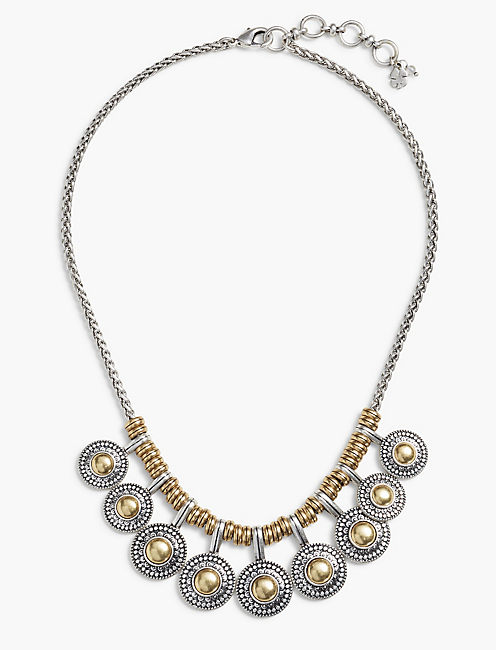 TWO TONE COLLAR NECKLACE,
