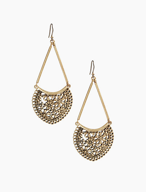 LACE OPENWORK LARGE EARRING,