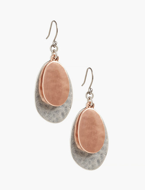 Hammered Disc Earring,