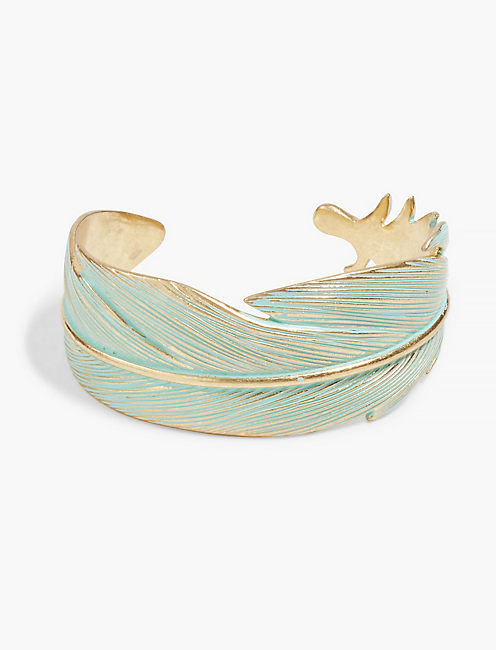 PATINA FEATHER CUFF,