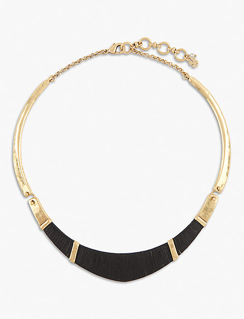 LEATHER WRAPPED CHOKER,