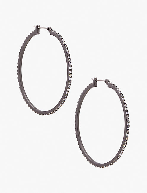 OXIDIZED HOOP EARRING,