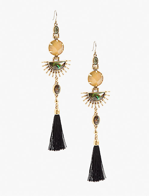 STATEMENT FRINGE EARRING,