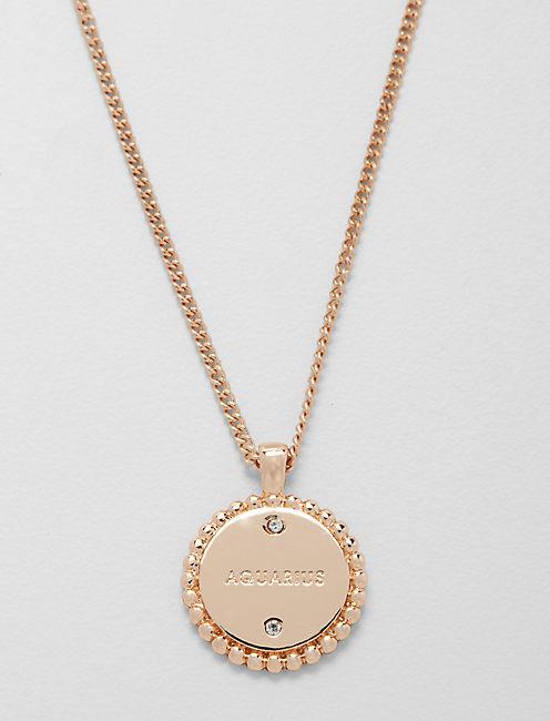Lucky Small Aquarius Zodiac Necklace