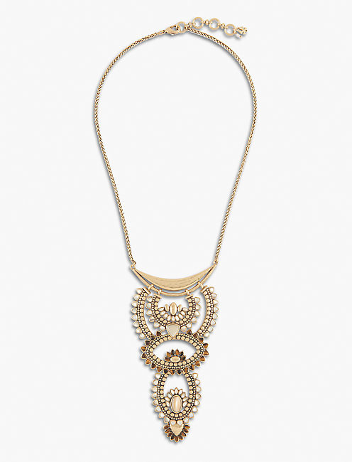 BEADED STATEMENT NECKLACE,