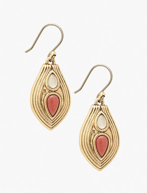 CORAL DROP EARRING,