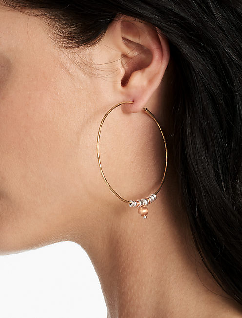 HOOP WITH ROSE GOLD,