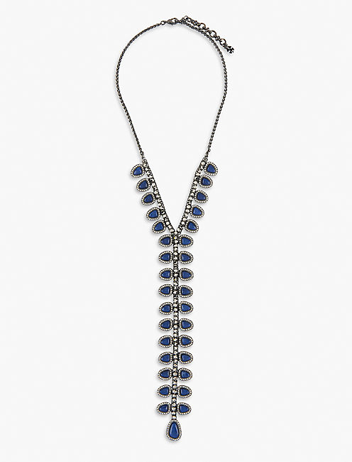 PAVE TIE NECKLACE,