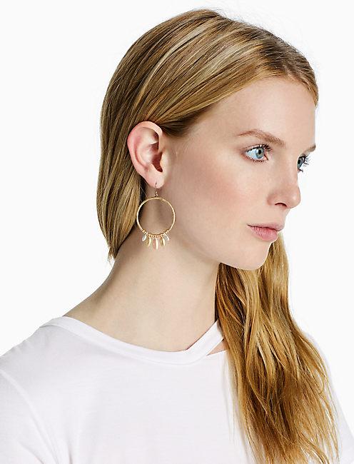 TRI-TONE HOOP EARRING,