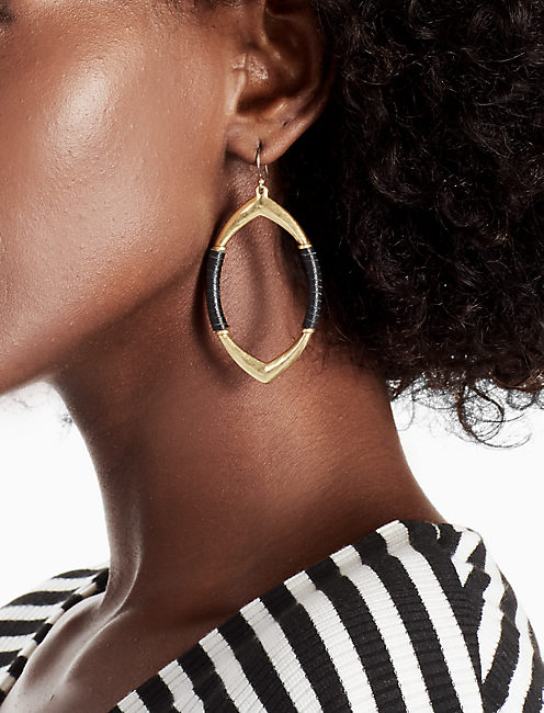 LEATHER WRAPPED EARRING,