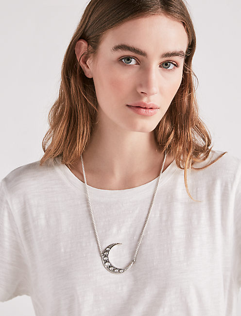 Lucky Crescent Pendant Necklace