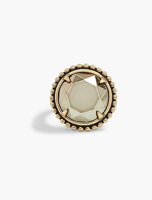 PYRITE STATEMENT RING,