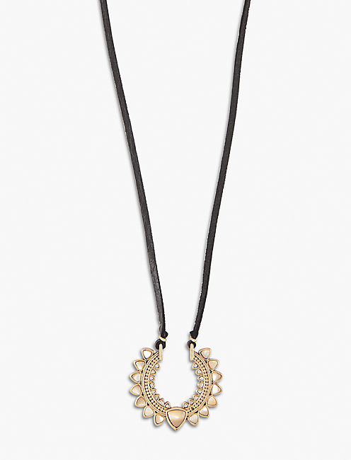 STONE LEATHER NECKLACE,