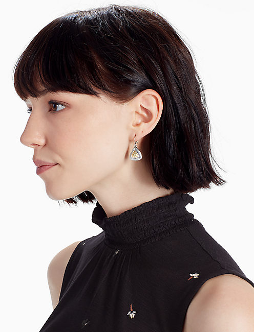 Lucky Two Tone Drop Earring