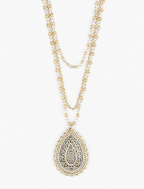 OPENWORK LAYER NECKLACE, MULTI