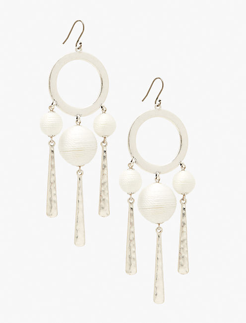 TRIPLE BAUBLE EARRING, SILVER