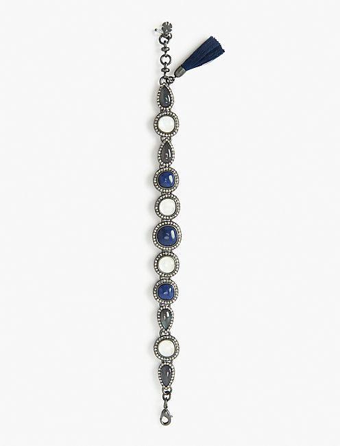 BLUE LINK BRACELET,