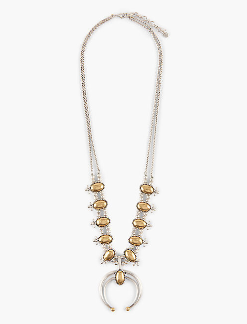 SQUASH BLOSSOM NECKLACE, MULTI