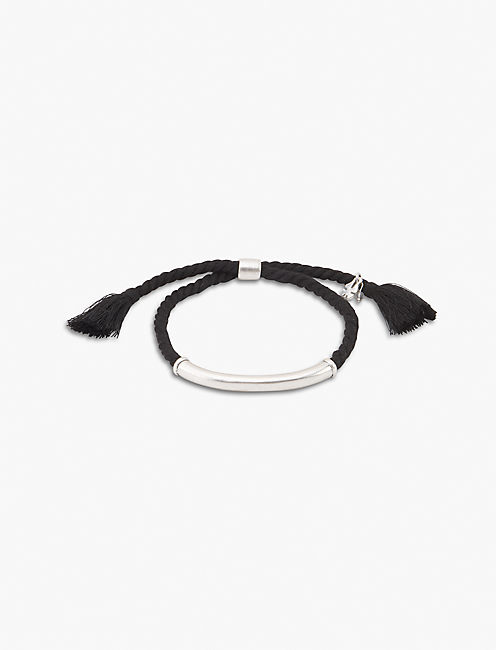 BLACK BRAIDED BRACELET,