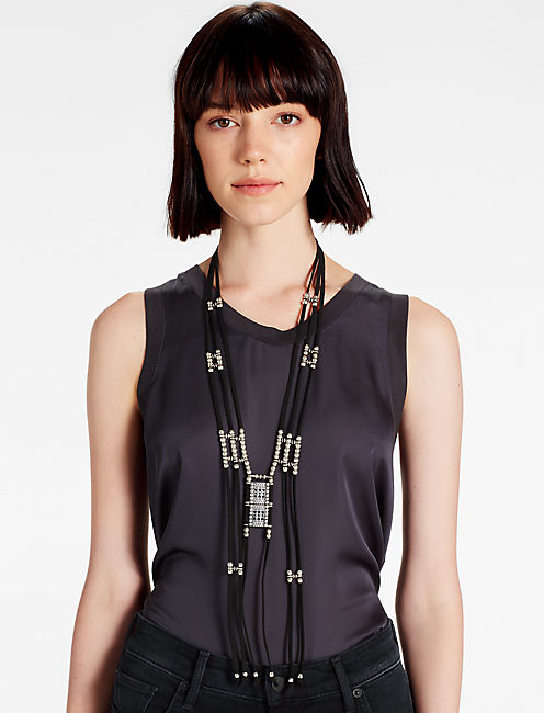 TRIBAL LEATHER NECKLACE,