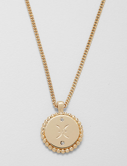 SMALL PISCES ZODIAC NECKLACE,