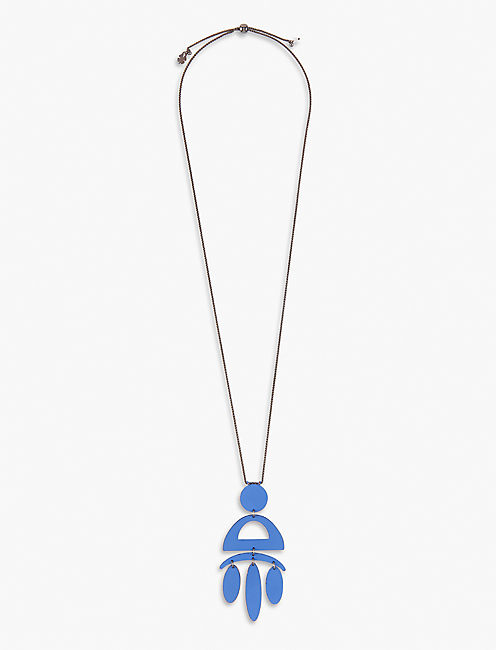 BLUE PAINTED NECKLACE,