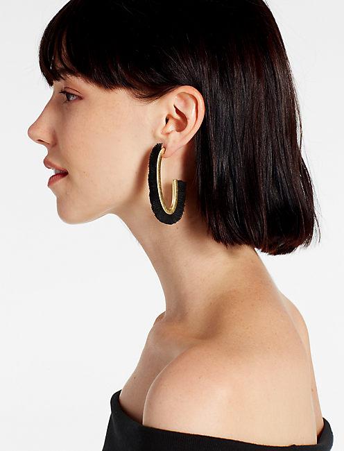 Lucky Black Fringe Earring