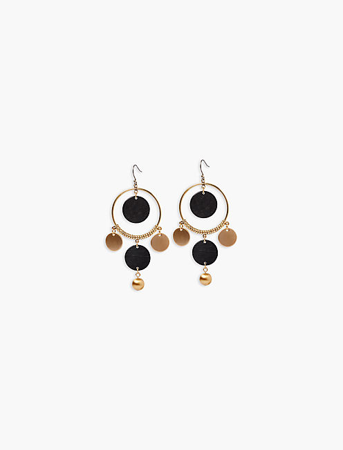 WOOD STATEMENT EARRING,