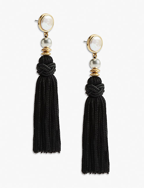 KNOTTED TASSEL EARRING,