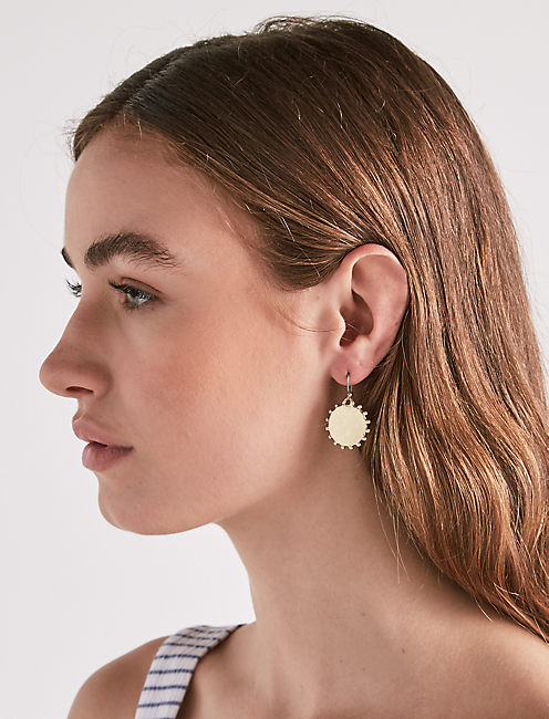Lucky Medallion Drop Earring