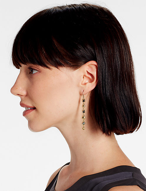 Lucky Pave Long Linear Earring