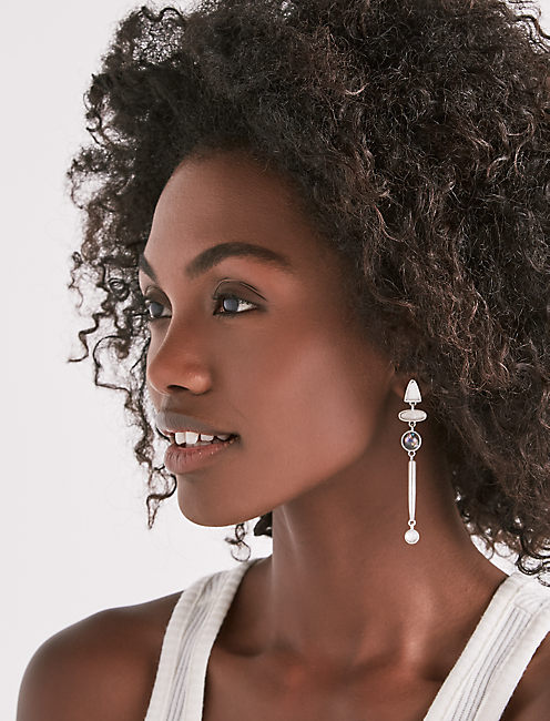 ASYMMETRICAL DROP EARRING,
