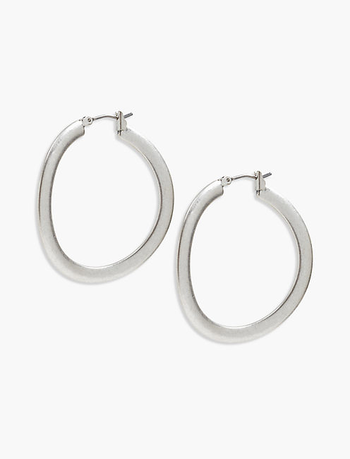 BRUSHED SILVER HOOP,