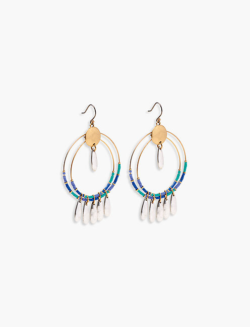 BEADED STATEMENT EARRING,