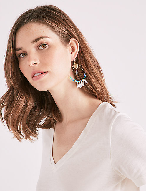Lucky Beaded Statement Earring