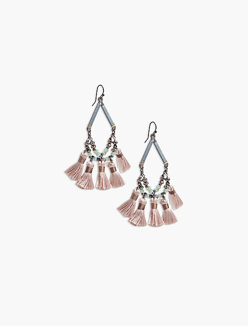 FRINGE STATEMENT EARRING,