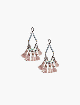 FRINGE STATEMENT EARRING