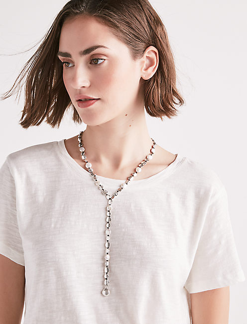 PEARL COIN Y NECKLACE,