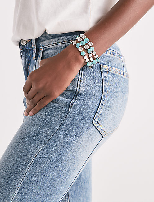 TURQUOISE COIN BRACELET,