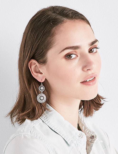 OPENWORK DROP EARRINGS,