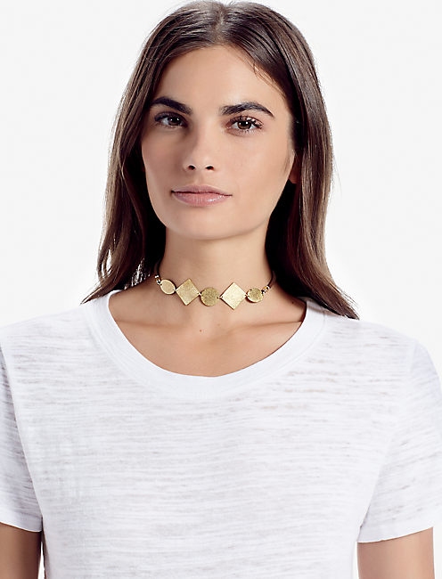 GOLD SHAPE CHOKER,