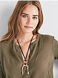 TORTOISE LEATHER NECKLACE,