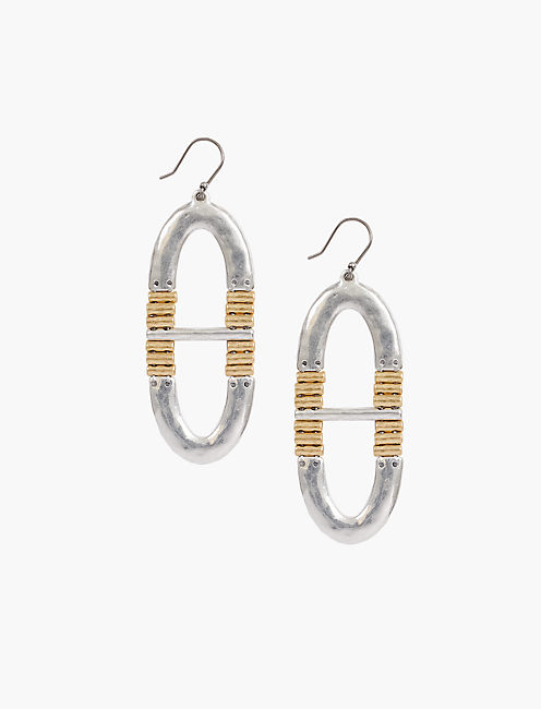 OVAL DROP EARRINGS,