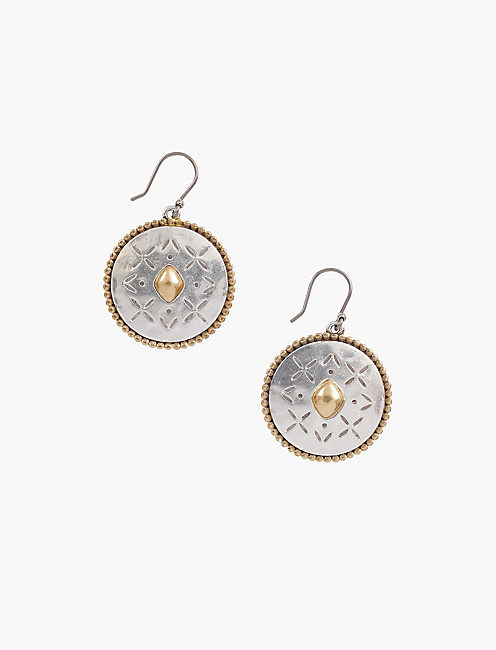 ORNATE FOLK DROP EARRING,