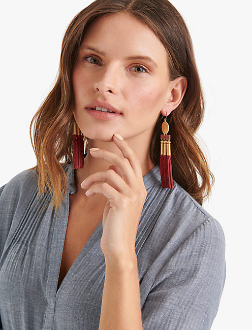 Lucky Oversized Silk Earring
