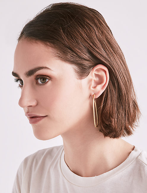 Lucky Gold Oval Hoops