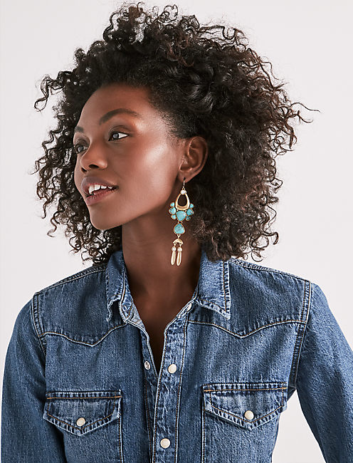 Lucky Turquoise Earring