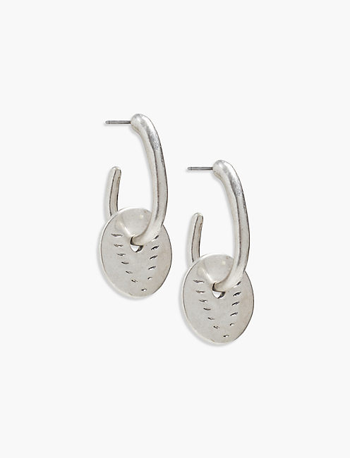 ETCHED DROP EARRING,