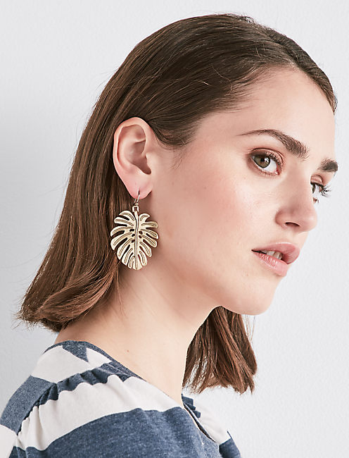 Lucky Leaf Drop Earring