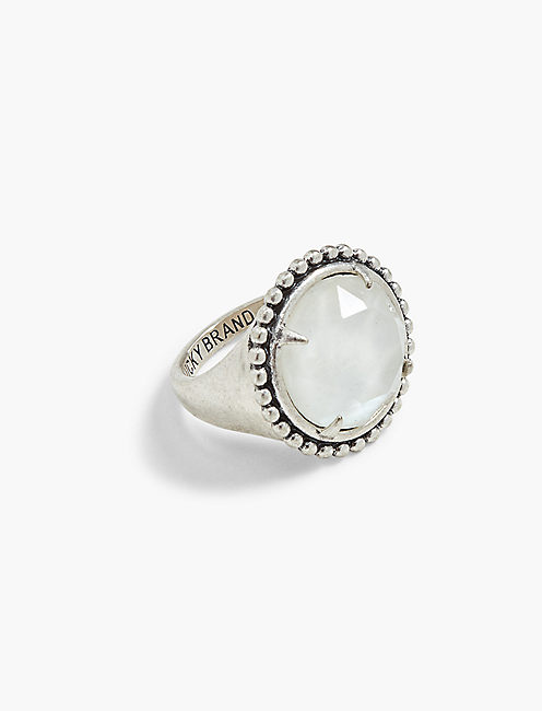 WHITE STATEMENT RING,